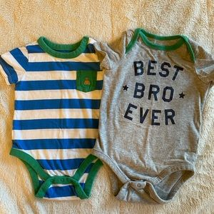 Baby Gap Best bro ever onesies